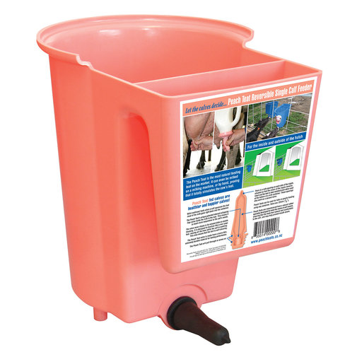 View larger image of Peach Teats Single Calf Feeder