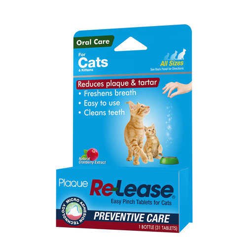 View larger image of Plaque Re-Lease Tablets for Cats
