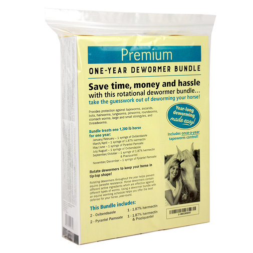 View larger image of Premium One-Year Horse Dewormer Bundle