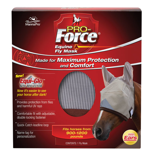 View larger image of Pro-Force Equine Fly Mask with Ears