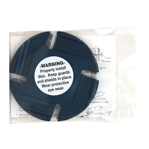 """View larger image of 4.5"""" Slotted Hoof Trimming Discs"""