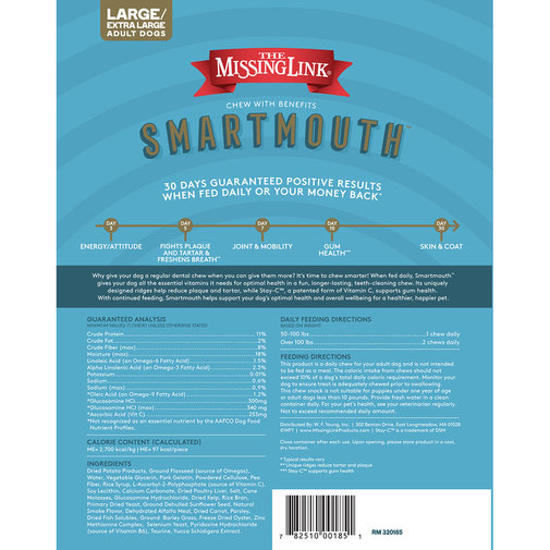 View larger image of SmartMouth Original Dental Chews for Dogs