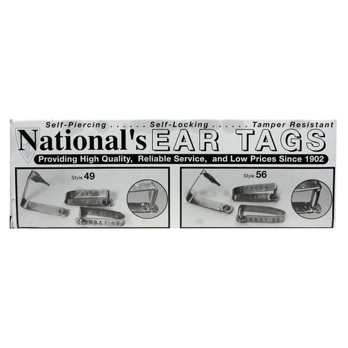 View larger image of Steel Cattle Numbered Ear Tags