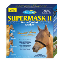 SuperMask II Shimmer Weave Fly Mask with Ears