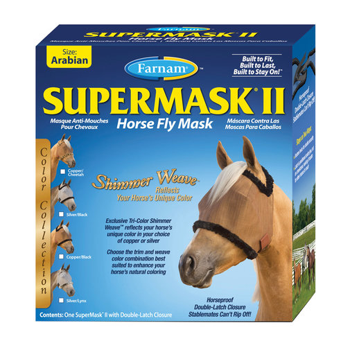 View larger image of SuperMask II Shimmer Weave Fly Mask without Ears