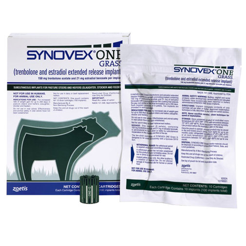 View larger image of Synovex One Grass Cattle Implants