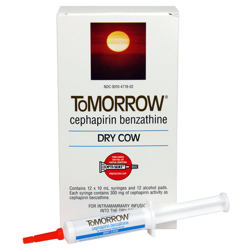 View larger image of ToMORROW (Cephapirin Benzathine) Dry Cow Mastitis Treatment