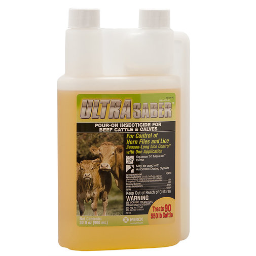 View larger image of Ultra Saber Insecticidal Pour-On for Cattle