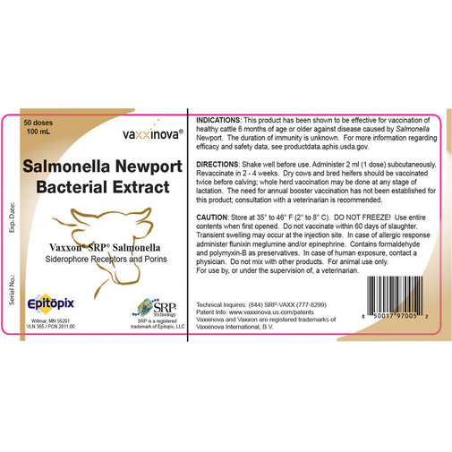 View larger image of Vaxxon SRP Salmonella Cattle Vaccine