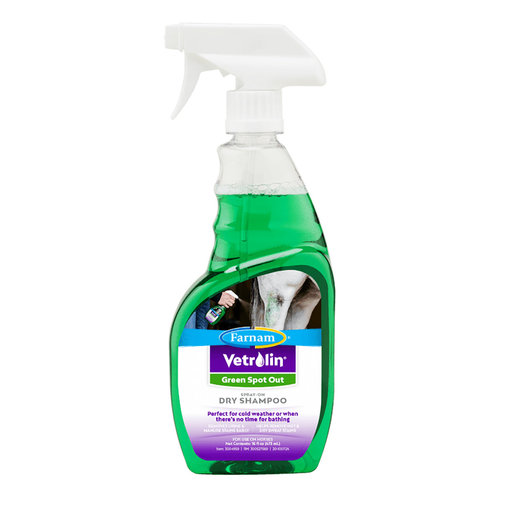 View larger image of Vetrolin Green Spot Out Spray-On Dry Horse Shampoo