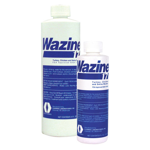 View larger image of Wazine Piperazine 17% Swine, Turkey and Chicken Dewormer