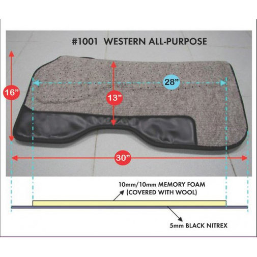View larger image of Western All-Purpose Saddle Pad