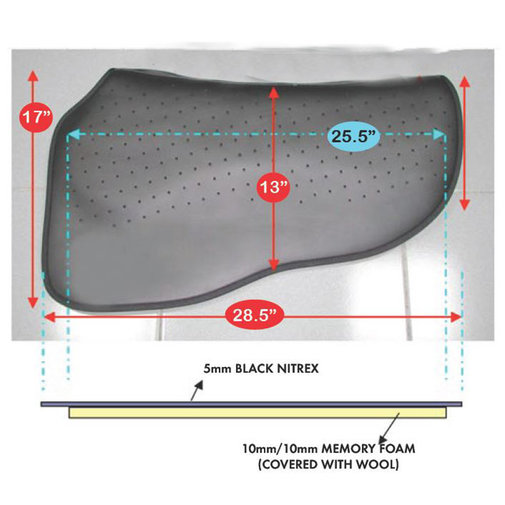 View larger image of Western Barrel/Endurance/Stock Saddle Pad