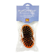Wood Curry Brush