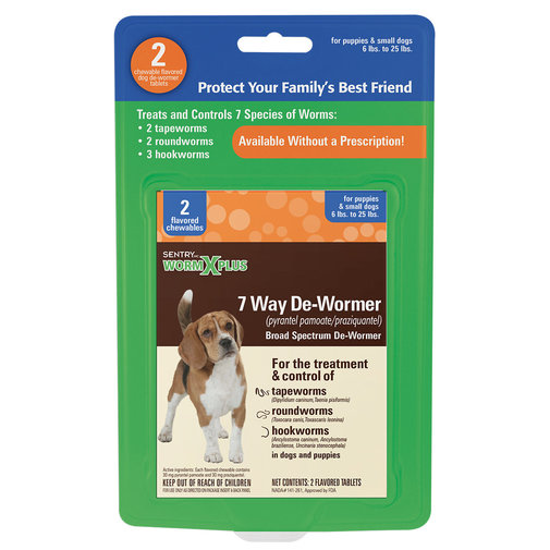 View larger image of WormX Plus 7 Way Dog Dewormer
