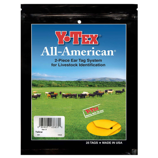 View larger image of Y-Tex 3-Star Medium Blank All-American Ear Tags